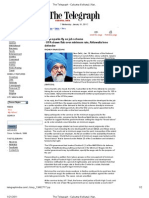 The Telegraph - 19 Jan 2011 - Wage Sparks Fly on Job Scheme - UPA Draws Flak Over Minimum Rate, Ahluwalia Lone Defender
