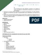 Practica 6. Determinacion de bicarbonato de sodio en alka seltzer