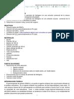 Practica 8. Analisis de una solucion de peroxido de hidrogeno I y II