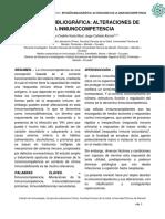 Alteraciones de la inmunocompetencia.