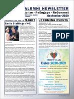 BC Alumni Newsletter September 2020