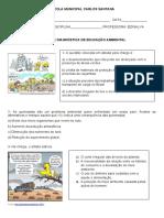 ATIVIDADE DIAGNOSTICA EDUCAÇAO AMBIENTAL 6 ANO .