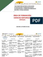 ÁREA DE FORMACIÓN CIENCIAS NATURALES