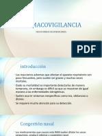 FARMACOVIGILANCIA - Trastornos Respiratorios