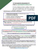 GUIA DEL PROCESO Y DOCUMENTOS PARA SOLICITUD DE EQUIPO