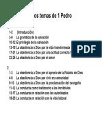 Los temas de 1 Pedro y su agrupación