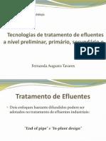 Tratamente de Efluentes - Fernanda.