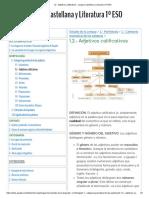1.2.- Adjetivos calificativos - Lengua Castellana y Literatura 1º ESO