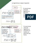 DERIVADA DE FUNCIONES LOGARITMICAS ACT. 23