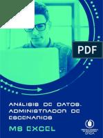 27. Análisis de Datos. Administrador de Escenarios