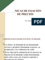 TÉCNICAS DE FIJACIÓN DE PRECIOS