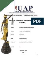 TRABAJO DERECHO INTERNACIONAL PRIVADO COD.2015151815.DUED AYACUCHO