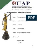 TESIS EJECUCIÓN DEL PROYECTO DE TESIS COD. 2015151815 DUED. AYACUCHO