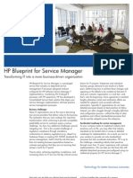 Brochure HP Blueprint for ServiceManager7
