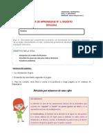 Guía 1 Matemática 5° Agosto