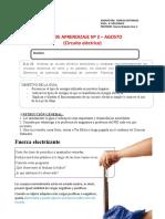 Guía 2 Ciencias 8° Agosto (Electricidad)