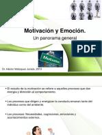 1.Motivación y Emoción, un panorama general