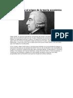 Adam Smith y el origen de la teoría económica