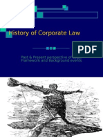 History of Corporate Law