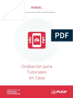 Manual de Grabación DACU-PUCP - Tutoriales