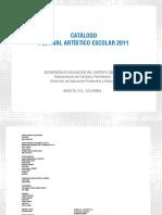 catalogo festival artistico 2011