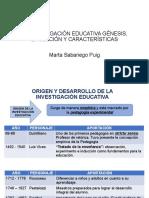 LA INVESTIGACIÓN EDUCATIVA GÉNESIS, EVOLUCIÓN Y CARACTERÍSTICAS
