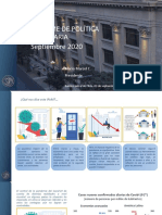 Informe politica monetaria septiembre 2020
