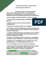 RESPOSTAS  ATIVIDADE OBSTÉTRICA E GINECOLÓGICA