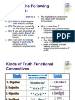 Truth Functional Connectives