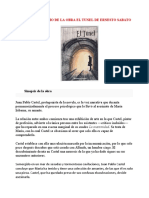 ANALISIS LITERARIO DE LA OBRA EL TUNEL DE ERNESTO SABATO