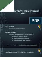 Creación de discos de recuperación (ASR) (2)