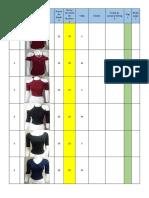 Inventario de ropa