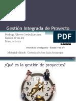 Motivación a la gestión de proyectos - Introducción