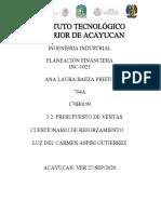 TEMA 1.2 CUESTIONARIO DE REFORZAMIENTO