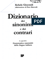 Grammatica essenziale della lingua italiana