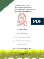 Contrato estimatorio - mercantil lll - 4to trabajo