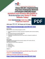 2020 Braindump2go New 350-401 PDF and 350-401 VCE Dumps Free Share