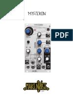 MakeNoise Mysteron Manual