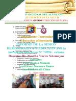 INFORME DE EDUCACION EN ALIMENTACION , NUTRICION Y SALUD