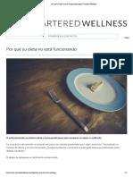Por qué su dieta no está funcionando según Chartered Wellness
