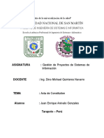Acta de Constitucion Nutriagro El Cisne