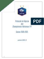 Protocole de reprise des championnats nationaux FFF