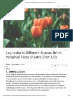 Lagnesha in Different Bhavas_ Brhat Parashari Hora Shastra (Part 1_2)