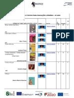 LISTA DE OBRAS E TEXTOS PARA EDUCAÇÃO LITERÁRIA 6º ano