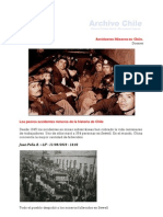 cronologia de accidente en Chile