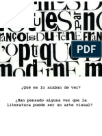 Genero Lirico. Poesia Visual