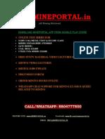 Coal India Ltd Management Tainee_2020 (Mining) Syllabus