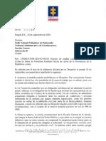 Carta de la Fiscalía a magistrada