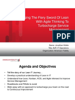 Using The Fiery Sword Of Lean With Agile Thinking To Turbocharge Service Management - Hinkle