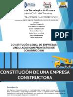 constitucion legal de empresas constructoras
